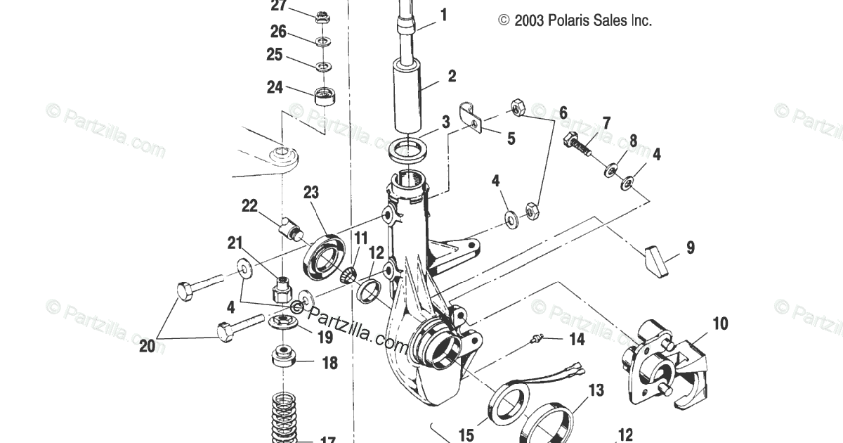 2004 Polaris Sportsman 400 Parts Diagram