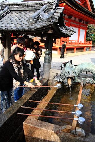 Handwashing point at Kiyomizu temple, Kyoto