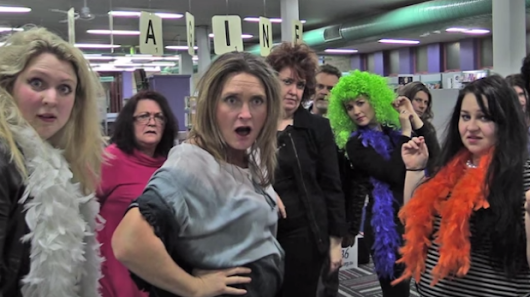 Nowra librarians' version of Queen hit Bohemian Rhapsody storms into YouTube