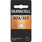 Duracell 303/357 Silver Oxide Battery - 1.5 Volt