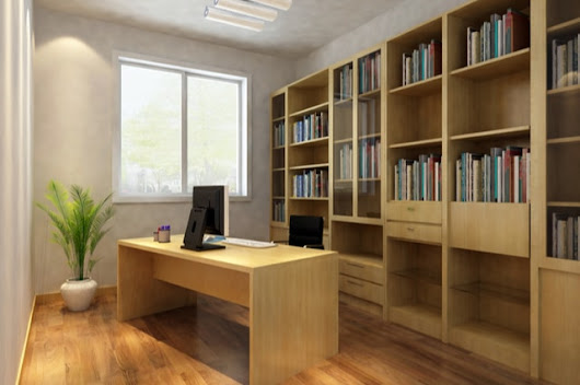 Advantages of a Custom Made Bookcase for your Home Office