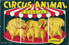 Keebler Circus Animal Cookies box