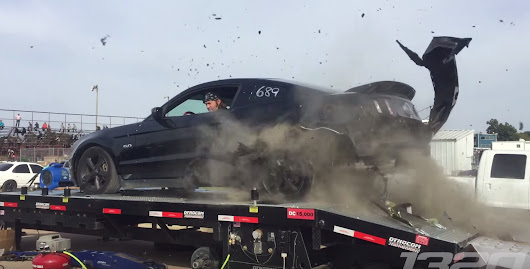 Watch this Mustang's rear tires explode during a dyno run • CF Blog