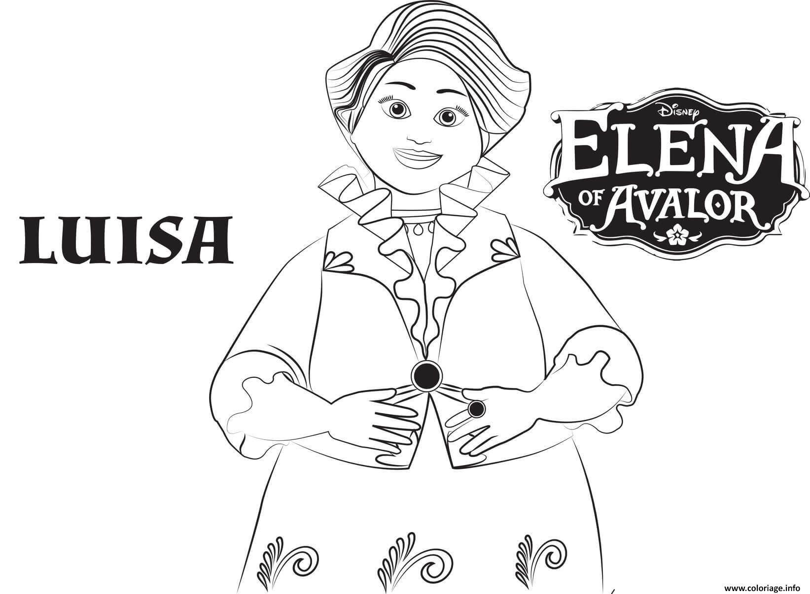 Coloriage Elena Of Avalor Luisa Disney Jecoloriecom