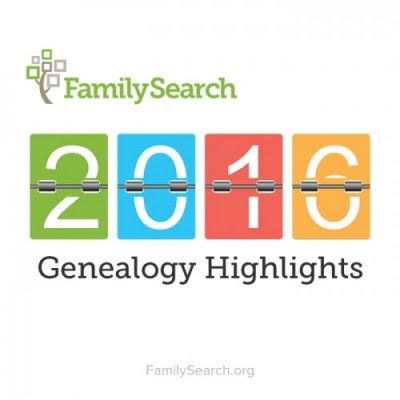 FamilySearch 2016 Genealogy Highlights