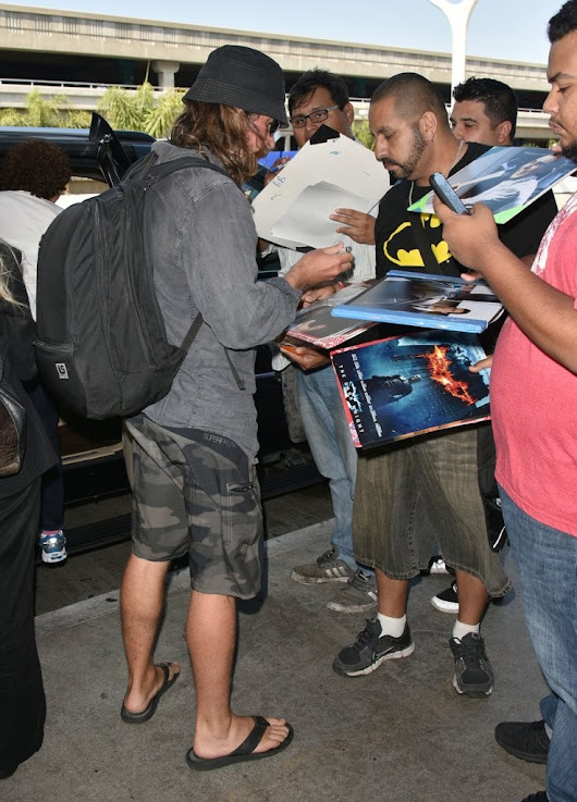 Christian Bale Arriving At LAX Yesterday -