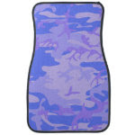 Light Blue Camouflage Pattern Car Floor Mat