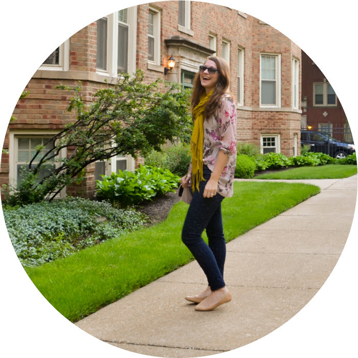 june outfit, casual friday, wear to work on friday, work outfits with jeans, outfit ideas, business casual office, gap printed jeans, lc lauren conrad top, nude pointed flats, mustard and pink, pattern-mixing, ootd