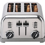 Cuisinart - 4 Slice Metal Classic Toaster - Brushed Chrome