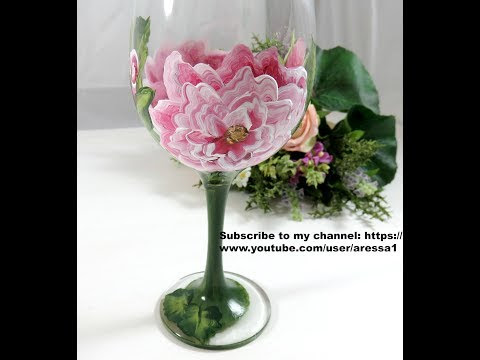 Coming Soon Hand Painted English Rose Glass