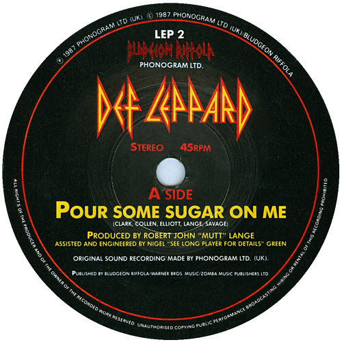 Image result for pour some sugar on me