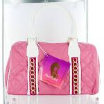 Nicki Minaj Pink Friday Pink Quilted Satchel Purse Handbag