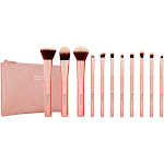 BH Cosmetics Metal Rose Brush Set - Option : 11 pc