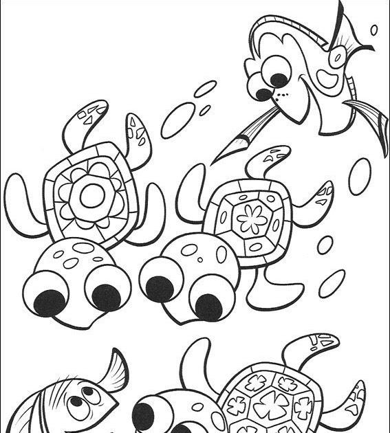 Turma Dos Desenhos: Desenhos Do Procurando O Nemo
