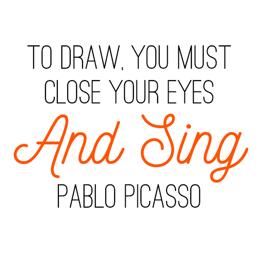 Paint Drops Artist Quote: Pablo Picasso