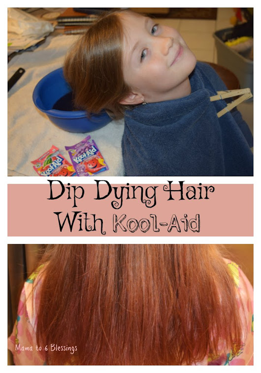 Dip Dying Hair With Kool-Aid - Mama to 6 Blessings