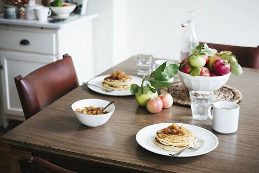 Simple Craves & Olive Oil: apple cinnamon compote + fluffy buttermilk pancakes