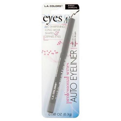 L.A. Colors Professional Series Charcoal Auto Eyeliner, 0.010 oz, Black
