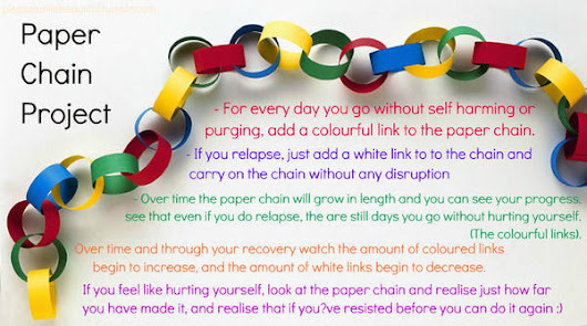 Self Harm and the Paper Chain Project. - Michelle Bowman