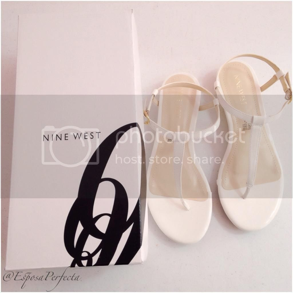 sandalias blancas nine west