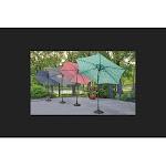 Living Accents 8660326 9 ft. Tiltable Red Patio Umbrella