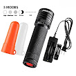 SAMLITE-Super Bright Military Quality Cree-T6 LED Tactical Flashlight, 460 Lumens With a Life Span of up To 100, 000 hours, White and Red Diffuser Included, Zooming, Use as Lantern or Emergency Signal - - Amazon.com
