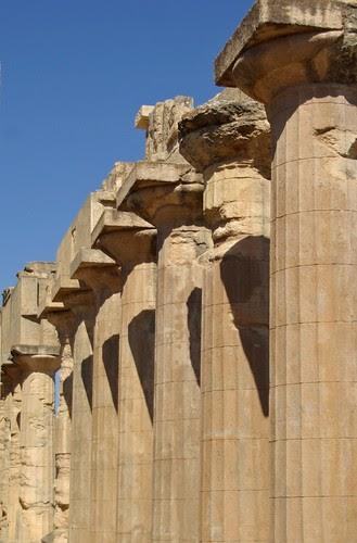 HISTORIA CLASICA Columnata Del Templo De Zeus En Cirene