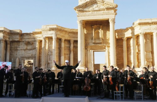 The Russian Mariinsky Symphony Orchestra conducted by Valery Gergiev in Palmyra, May 2016. (Russian Insider)
