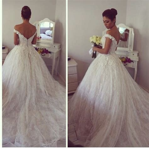 Off the Shoulder Lace Ball Gown Princess Dress Gorgeous