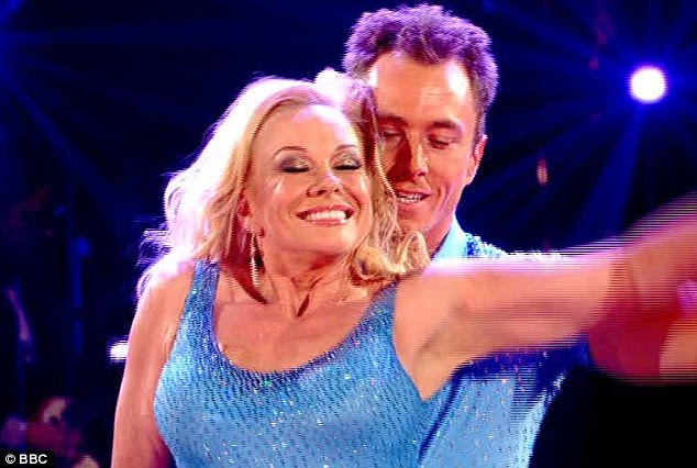 Hard to beat: The 61-year-old star lost out to Matt Baker and Kara Tointon