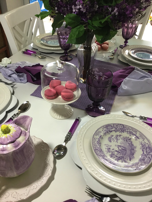 Fresh Lilac Tablescape? It Is Impossible Here, Or is it? - Me and My Captain