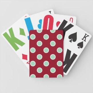 Christmas Polka Dots Large Print Playing Cards