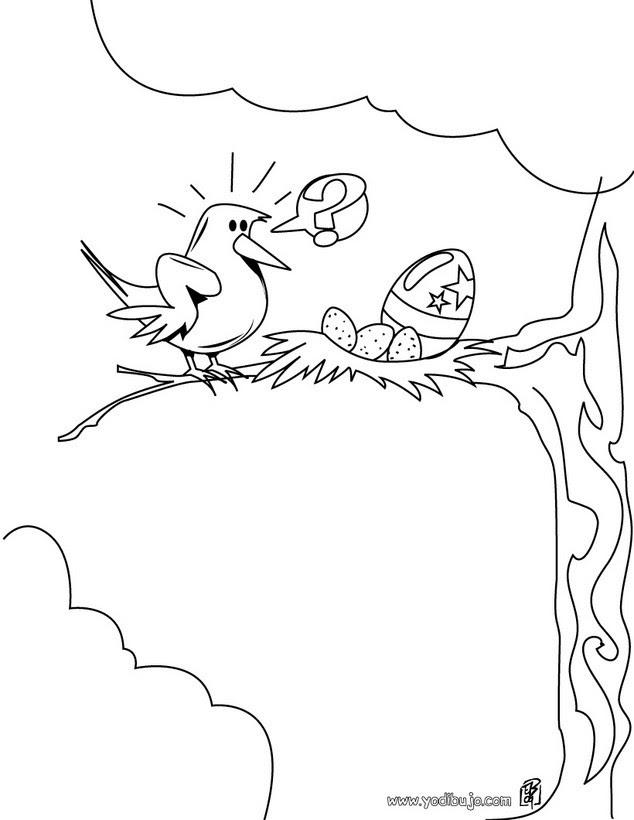 Dibujos Para Colorear Nido Con Huevo Pintado Eshellokidscom