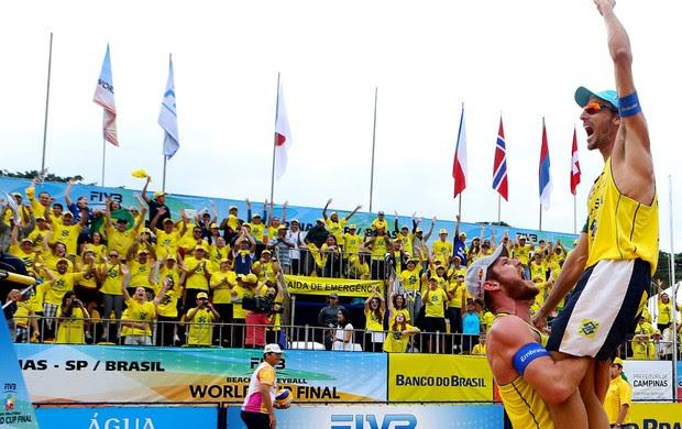 vôlei de praia Emanuel e alison etapa de campinas (Foto: CBV)
