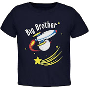 d649e671 Old Glory Big Brother Outer Space Rocket Toddler T Shirt - Navy - 2T