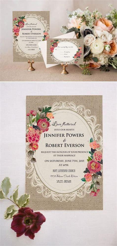 Cheap Vintage Rustic Roses Wedding Invitations EWI397