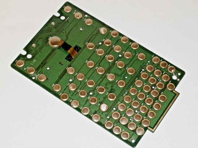 Numerous Dome Switches on the Keyboard PCB
