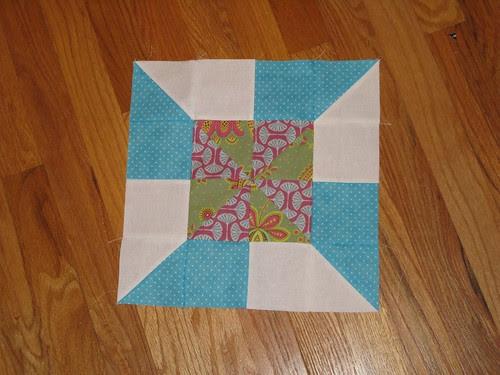 Sew Bee Blissful, Aug block #2