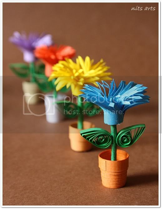 Quilling flowers1