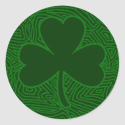 Scribbleprint Shamrock sticker