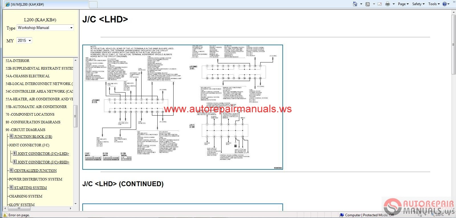 Mitsubishi Pajero 94 Wiring Diagram Books Of L200 Alternator Free Auto Repair Manual 2015 Service