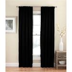 "54""x54"" Solid Thermapanel Room Darkening Curtain Panel Black - Eclipse"