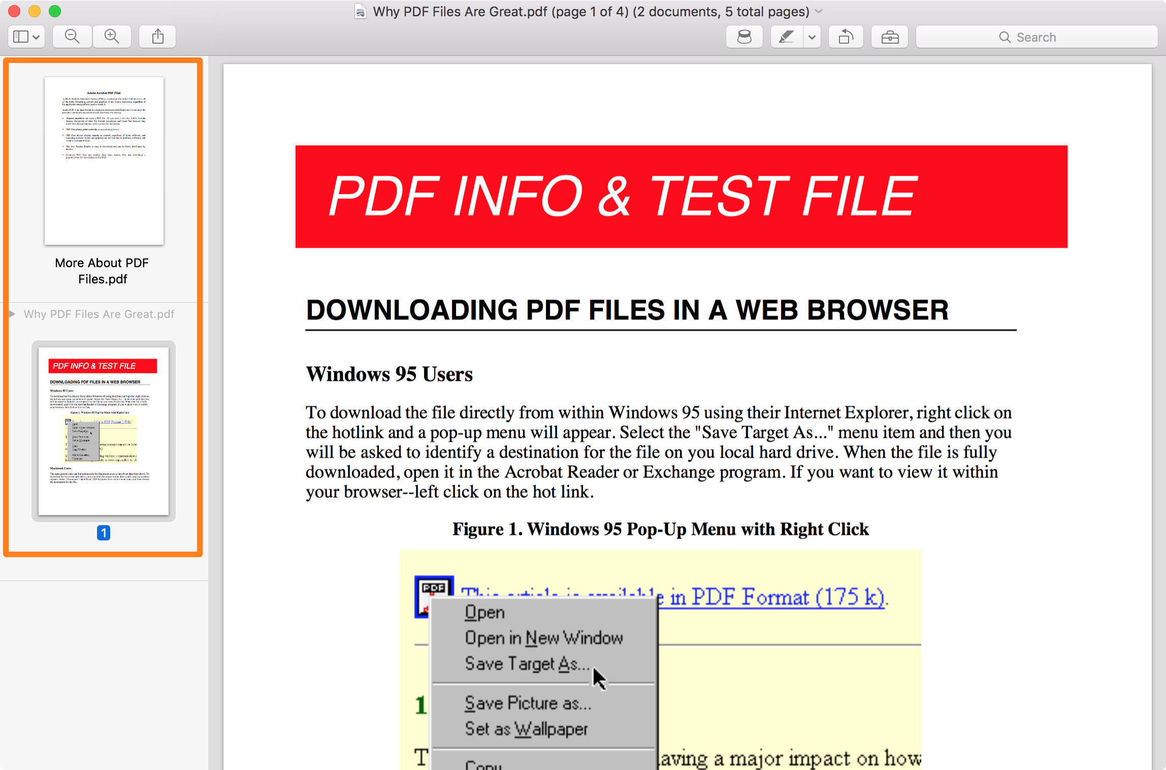 How to combine two PDF files into one with Preview on Mac