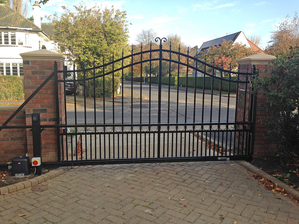 Sliding Wrought Iron Gate - BFT Automation - East Yorkshire