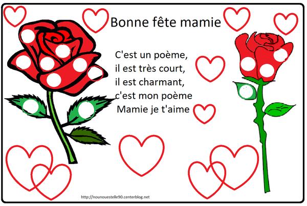 Poeme Et Coloriage Fete Des Mamies
