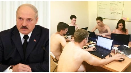 Belarusian president accidentally tells nation to strip down. Nation complies
