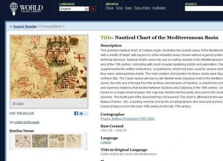 5000 documentos históricos en la Biblioteca digital mundial | Educación en Castilla-La Mancha | Scoop.it
