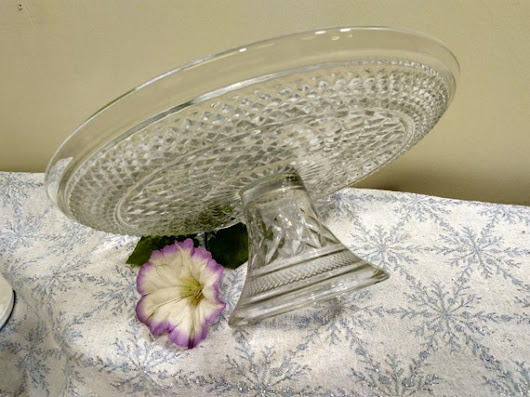 Anchor Hocking Vintage Wexford Diamond Clear Glass Pedestal