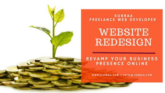 Website Redesign – Hire Subraa, Freelance Web Designer this Christmas to revamp your business presence online