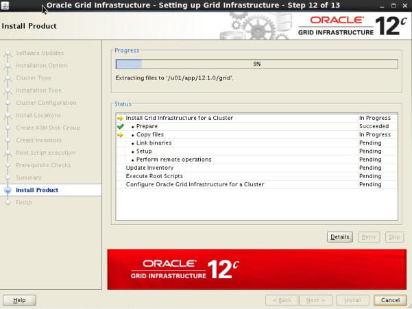 12c RAC install